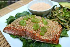 Sesame Crusted Salmon | Primally Inspired #paleo
