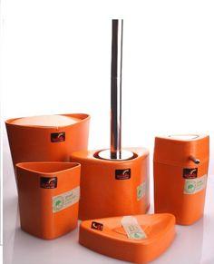 Spirella Trix Eco 5 Piece Bathroom Set Orange Eco Friendly   Free  Introductory Offer  Bathroom Decorating Ideas  Cheerful Orange Paint and Accessories  . Orange And Grey Bathroom Accessories. Home Design Ideas
