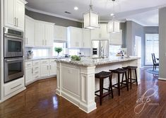 White and Grey Kitchen   DLP Interiors