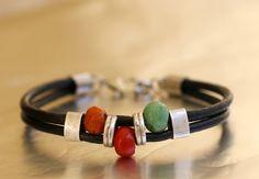 ENVÍO gratis, mujeres con cuentas pulsera, pulsera de cuero para mujer, joyas para mujer, pulsera del encanto, diseño fresco, pulsera en cuir