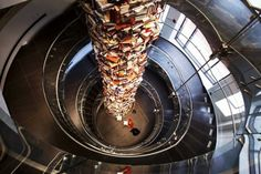 3 Story Tower Made of 15,000 Books About Abraham Lincoln