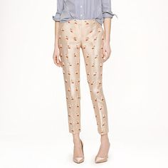 j crew embellished trousers