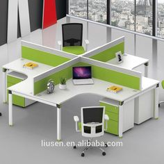 Superior Quality Cheap Melamine Panel Modern Office Computer Workstation