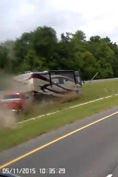 Louisiana Motor Home Crash Caught On Dash Cam( WATCH)