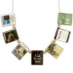 Banned Books Necklace - Literary Gift Company $32.19