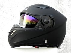 Masei 830 Matt Black Full Face Motorcycle DOT & ECE Helmet