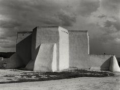Seminal American photographer Paul Strand (Oct. 16, 1890–1976): Church, Ranchos de Taos, New Mexico, 1932