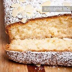 """Bardzo proste ciasto, idealne na zaspokojenie chęci na """"coś słodkiego"""". Można je jeść, gdy jest jeszcze ciepłe, smakuje wspaniale. Nadzwyczaj długo zachowuje świeżość, nawet po kilku dniach jest świetnym uzupełnieniem do popołudniowej kawy. Składniki pół szklanki mąki pszennej pół szklanki mąki ziemniaczanej 2 jajka pół szklanki oleju 1 łyżeczka proszku do pieczenia pół szklanki cukru 3 krople aromatu migdałowego 2 łyżki płatków migdałowych Wykonanie Jajka ucieramy z cukrem. Dodajemy m... Apple Cinnamon Bread, Banana Bread, Polish Recipes, No Bake Cake, Vanilla Cake, Delicious Desserts, Sweet Treats, Deserts, Good Food"""