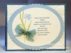 Stampin' Up! Love & Sympathy card (more info on blog)