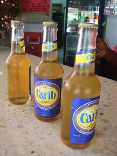 Carib Beer. The beer of the caribbean.