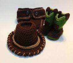 Crochet Newborn Western Set by BeckysThreadsofGrace on Etsy, $50.00