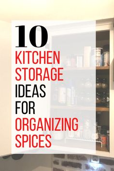 10 Creative DIY Spice rack ideas. Easy and Cheap ideas how to organize spices kitchen storage ideas. #hometalk