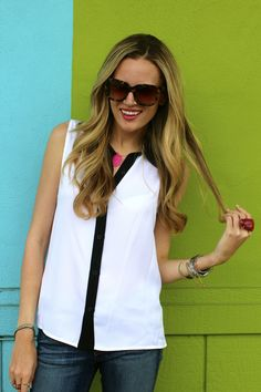 @Shannon Yoachum looking lovely in our Loira blouse!