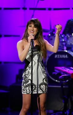 "She came through like a cannonball. Lea Michele sings her new song ""Cannonball"" on the ""The Tonight Show Starring Jimmy Fallon"" on March 4 in New York"