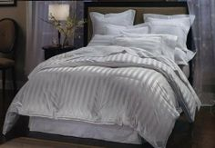LUXURIOUS 1200 Thread-Count KING / CAL KING Size Siberian GOOSE DOWN Comforter, WHITE Stripe, 100% Egyptian Cotton 750FP, 50Oz by EGYPTIAN COTTON FACTORY OUTLET STORE. $249.99. Filling with 750+ Fill power, Size 106 x 90 inches, White, 100% Goose Down. 1200TC Egyptian-Cotton Cover. Hypo-allergenic, Allergy Free. Machine Wash. Luxury goose down comforter provides medium warmth for year-round comfort. Box-stitching design to avoid any shifting in your comforter. B...