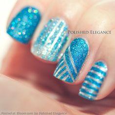 By Polished Elegance. #nailart #liquidsand #nailpolish #opi more info on my blog: http://polishedelegance.blogspot.no/2013/04/the-textured-trend.html @Bloom.com