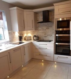 Remodeling Kitchen Lighting That corner cupboard, that's what I have in mind for above the new sink Home Decor Kitchen, Kitchen Interior, Home Kitchens, Kitchen Ideas, Kitchen Units, Ovens In Kitchens, Kitchen Photos, Kitchen Cupboards, Luxury Kitchens