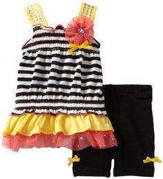 Little Lass Baby-Girls Newborn 2 Piece Short Set with Ruffles, Yellow, 6-9 Months Little Lass. $19.00