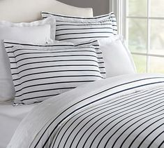 Sailor Stripe Duvet Cover & Sham #potterybarn