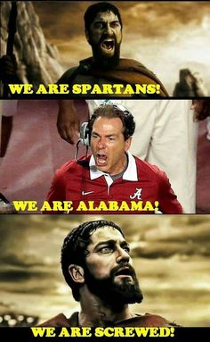 The 'Tide' is Here. my teams, the opponents ARE screwed Alabama Football Funny, Football Memes, American Football, Uofa Football, Alabama Memes, Football Stuff, Football Season, Lsu, Alabama Crimson Tide Logo