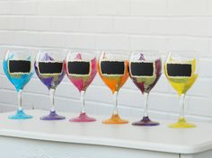 Chalkboard Wine Glass  Hand Painted by BellaVetrobySamantha,