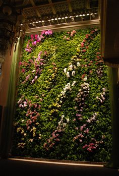"""""""Butterfly Dance"""" - Vertical Garden by Patrick Blanc at the National Theatre, Taipei"""
