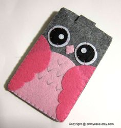 313c87c82abb26 Items similar to Custom Size Felt iPhone Case, Cell Phone Sleeve, Felt  Phone case, Handmade cell phone purse, Owl case, iPhone 7 case on Etsy