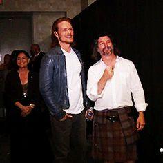 """""""Sam backstage before the #Outlander panel"""""""