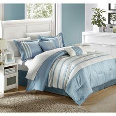 Chic Home Torino Pleated Piecing 7 Piece Comforter Set & Reviews | Wayfair