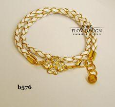 flov design: white & gold bracelet