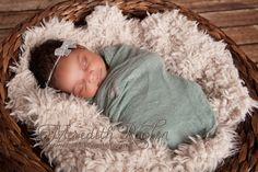 Newborn Headband and Baby Wrap Set Newborn by AnnabelleCollection   cheese cloth