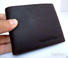 Men Money Clip Genuine retro Leather wallet id Coin Pocket Purse Pouch slim it R