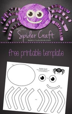 Printable Spider Craft halloween pumpkin decoration, halloween cocktail, halloween comida Source by marietheresebek Deco Porte Halloween, Theme Halloween, Halloween Arts And Crafts, Halloween Crafts For Toddlers, Halloween Crafts For Kids, Toddler Crafts, Halloween Crafts For Kindergarten, Haloween Craft, Classroom Halloween Party