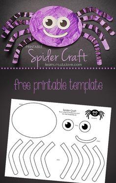 Printable Spider Craft