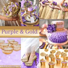 Lilac champagne and gold on pinterest bouquets lilacs - Purple and gold color scheme ...