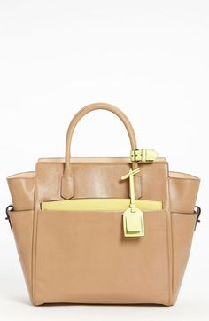 Reed Krakoff 'Atlantique' Leather Tote Tan/Yellow