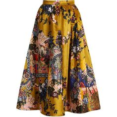Teresa floral-print velvet midi skirt Erdem MATCHESFASHION.COM ($2,670) ❤ liked on Polyvore featuring skirts, velvet skirt, print skirt, floral skirt, calf length skirts and midi skirt