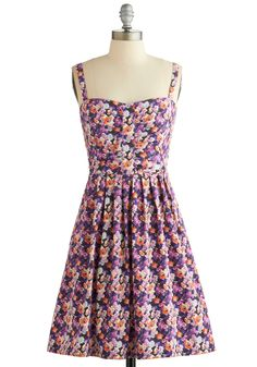 Cutie in Candytuft Dress. Experience the sweet sensation of this fetching floral tank dress! #multi #modcloth