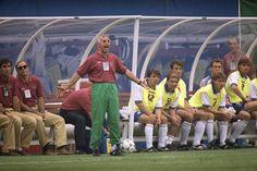 Le foto di USA '94: L'allenatore dell'Italia, Arrigo Sacchi. (AP Photo/Mark Lennihan) - Il Post