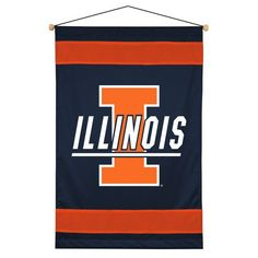 Illinois Fighting Illini Sidelines Wall Banner Flag