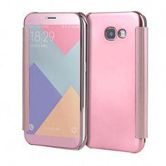 007180dec6 Case PC View Windows Ultra Thin Flip Case Luxury Plating Mirror Cover Bag For  Samsung Galaxy Fundas Phone Case