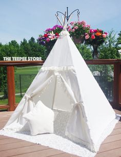SALE Ivory with Frills Lace Trim and Top Kid s princess. The Teepee Store bbcfcc18760