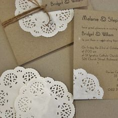 Paper Doily Invitation Set