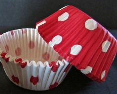 Mini Minnie Mouse Cupcake Liners Red & White Polka by DIYgirlz, $2.50