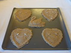 Heart and Swan Cookies Ready For The Oven