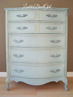 Vintage 1960s french provincial stenciled by LadderBackGirl