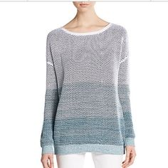 ‼️limited time‼️Vince sweater-NWT- size XS Vince ombré cotton sweater - NWT- size XS. Cozy cotton knit construction in an ombré motif for eye-catching flair.  Boatneck, dropped shoulders.  Rubbed cuffs and hem. Pullover style. Cotton. Note: lighting is dark in last photo. Truly gorgeous and exceptional quality! ‼️new listing, but going to consignment in a few weeks if not sold‼️ Vince Sweaters