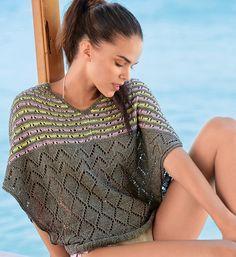 Джемпер «Летучая мышь»   Verena. Спецвыпуск» № 2/2016 Crochet Top, Rubrics, Knitwear, Turtle Neck, Crochet Clothes, Tops, Dresses, Knitting, Fashion