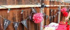 Red & Chalkboard Birthday Party