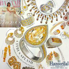 An incomparable beauty, the yellow diamond ring features in this month's #BazaarBride  #HazoorilalBySandeepNarang #Solitaires #YellowDiamonds #FancyCuts #HazoorilalPressRelease #Hazoorilal #HLbySN